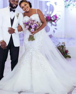 2021 Plus Size Arabic Aso Ebi Luxurious Beaded Crystals Wedding Dresses Mermaid Lace Bridal Dresses Sexy Vintage Wedding Gowns ZJ106