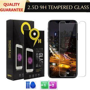 Verre trempé 2.5d 9H Protecteur d'écran pour iPhone 6 7 8S SE2 11 12 PRO Max x XS XR Plus anti-rayures Anti-Digitalprint DHL Free