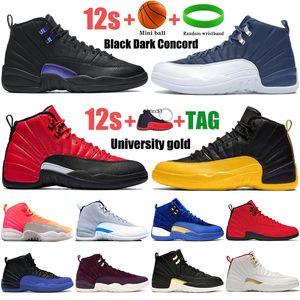 12 12s Nero Black Dark Concord Scarpe da basket Indigo Reverse Flue Game University Gold Reverse Taxi Sunrise Fibra Uomo Sneakers Allenatori per uomo