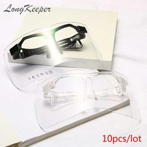 Langlehrer 10 teile / los Winddichte Schild Visierglas Frauen Männer Outdoor Übergroße Goggle Sonnenbrille Übergroße UV400 Okulary