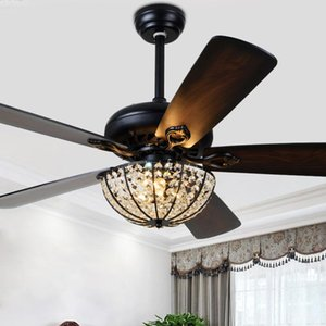 Ceiling Fans 52 Inch Wood Light With Remote Control Led Lights 5 Blades For Living Bedroom Dinning Room 3 Speed Ventilator Lamp
