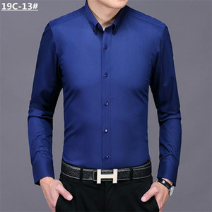 2021 New Luxurys Designers Menswear Casual bussiness Shirts Classic Men Dress Shirt Men's Long Sleeve Brand New Fashion Spring Shirts #04