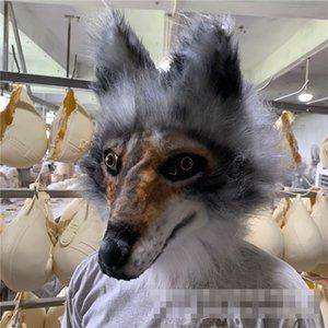 New Donkey Orangutans wolves dinosaur and gear Horror Halloween Cosplay Unisex Medium Size Latex mask With Fake hair Free Size jk1357