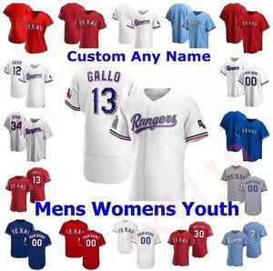 2020 21 hombres Mujeres Niños Jóvenes Texas Joey Gallo Auténtico Auténtico Odor Rangers Choo Elvis Andrus Ronald Guzmán Adrian Alexis Baseball Jerseys