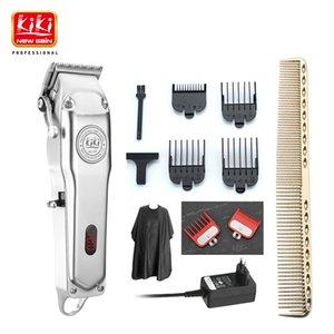 Kiki Newgain Şarj Edilebilir Tüm Metal Saç Kesme Akülü Elektrikli Saç Düzeltici Profesyonel Saç Kesimi Sakal Tıraş Makinesi 210302