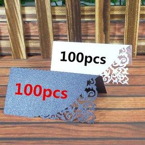 100 pc Party Table Nome Vinho Guest Place Cards Mesa Place Place Cartões Favor Decoração Casamento Suprimentos Decoração de Assento 9 * 9cm 5ZZ13