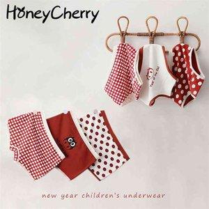 Children's cotton underwear female baby girl panties cartoon little girls 210702