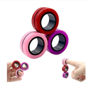 Anti-Stress Magnetic Rings Fidget Unzip Toy Magic RingTools Children Magnetic Ring Finger Spinner Ring Adult Decompression Toys