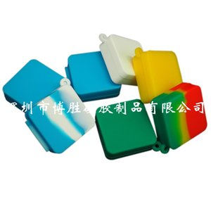 Nonstick wax containers 9ml block shape silicone food grade jars dab tool storage jar oil holder for vaporizer smoking accessories 505 R2