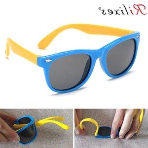 Rilixes Polarized Kids Sunglasses Boys Filles Bébé Bébé Sun Lunettes 100% UV400 Eyewear Child Shades Oculos Infantil