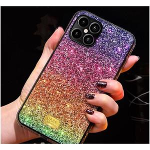 Gradient Glitter Premium Rhinestone Case Luxury Designer Women Defender Phone Case For Iphone 12 11 Pro Xr Xs Max 8 Phone Back Cover F Cnifs