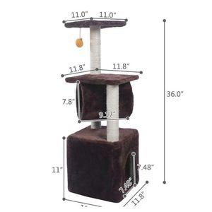 "Black Friday 36"" Cat Tree Bed Furniture Scratch Cat Tower Post jllNEK xmh_home"