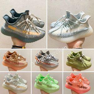 Yeezy Boost 350 V2 2021 En Kaliteli Çocuk Ayakkabıları Erkek Ve Kız Sarı Çekirdek Siyah Çocuk Spor Ayakkabı Sneakers Bebek Doğum Günü Hediyesi için B7