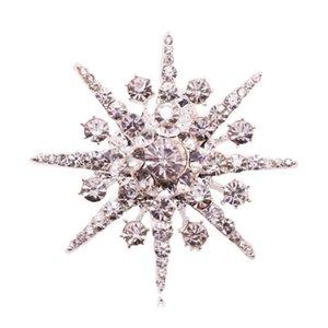 Pins, Brooches Retro Star Brooch Fashion Rhinestone Pin Chic Pearl Corsage Woman Clothing Accessories Ornament
