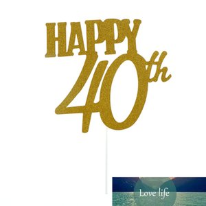 1pc happy 40th cake toppers anniversary party supplies birthday party decoration