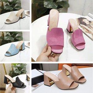 Yüksek Kaliteli Bayan Sandalet Terlik Kama Topuk Moda Kadınlar Deri Sandalet Bayanlar Uygun Renkli Ayakkabı Klasik Kız Eğlence Terlik Kutusu Ile