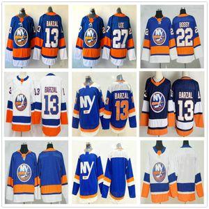 2021 Reverse Retro New York Islanders #13 Mathew Barzal 22 Mike Bossy 27 Anders Lee Alternate Blue Men Women Kids Youth Ice Hockey Jerseys