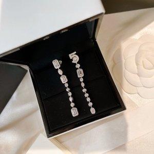 2022 Новый Горячий Бренд Чистый 925 Стерлинговые Серебряные Стерлинговые Воды Дизайн Шпильки Серьги Письмо 5 Чистые 925 Симпатичные Роскошные Серьги Бренда