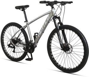 Neffice 24 Speed 27.5 inch Mountain Bike Aluminum Alloy Outdoor Bikes for Men Women (Grey)