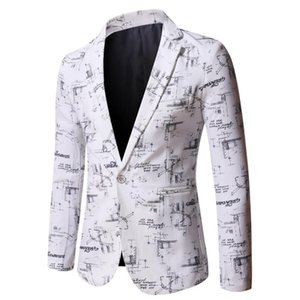 Men New High Quality Men's Printed Lapel Slim Business Casual Long Sleeves Men Blazers 2021 Spring and Autumn