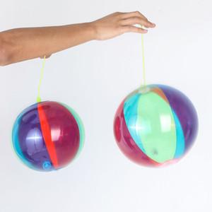 22cm Inflatable Luminous Bounce Ball Children Toy Flashing Ball Baby Hand Bounce Balloon Beach Inflatable Ball Parent-child Interaction