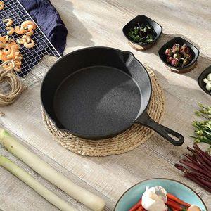 Siyah Yapışmaz Kaplama Kızartma Tavası Dökme Demir Tavada Güvenli Pişirme Tava Seti Ev Mutfak BARBEKÜ Balina için Çok Amaçlı Tencere Kullanımı