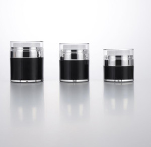 15 30 50g Black Pearl White Acrylic Airless Jar Round Cosmetic Cream Jar Pump Cosmetic Packaging Bottle 2021