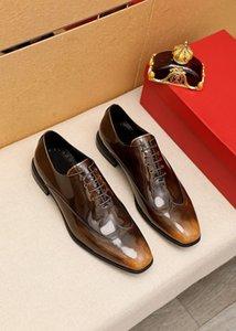 2021 Мужские Классические Натуральные Кожаные Квартиры Мода Свадьба Дышащие Оксфорды Мужчины Бренд Дизайнер Начальник Бизнес Обувь Обувь 38-45
