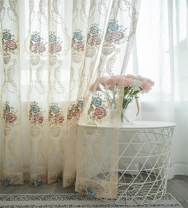 Curtain & Drapes Curtains For Living Room Embroidered Flower Shading Simple Modern Small Fresh Finished Floor Balcony Dining Bedroom