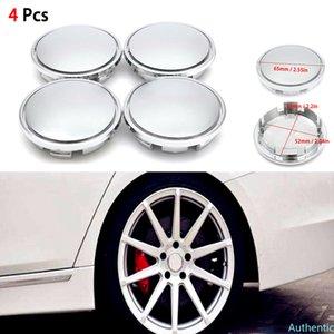 4pcs 56MM Silver Chrome ABS Plastic Flat Surface Car Wheel Center Hub Caps Universal Cover Auto Rim Tire Hubcap