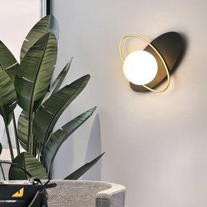 Wall Lamps Nordic Light Luxury Sconce Modern Background Lamp Aisle Corridor El Living Dining Room Decoration Bedroom Bedside Lights