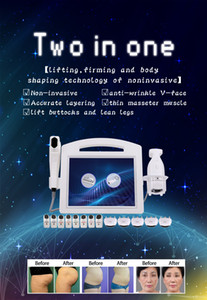 Professional 4D HIFU LIPOSONIC 2 in1 wrinkle removal fat reduce face lift body slimming HIFU with 8 cartridges and 20000 shot beauty machine