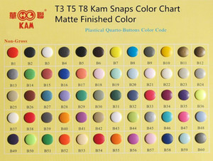 1000set box x10 box matte finished Kam Button T5 T3 T8 Free Shiping clothing accessories High Quality baby snap button Wholesale