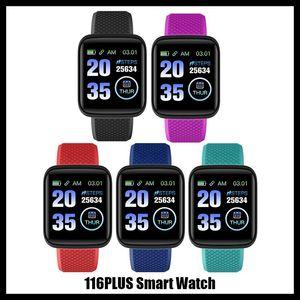 Fitness Tracker ID116 116 mais pulseira inteligente com frequência cardíaca relógio inteligente pulseira de pressão sanguínea para fitbit mi banda 116Plus