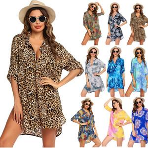 new women's swimsuit beach Blouse Shirt Bikini Swimsuit beach skirt Summer Sun protection clothing Blouse Coat Breathable Soft Outwear