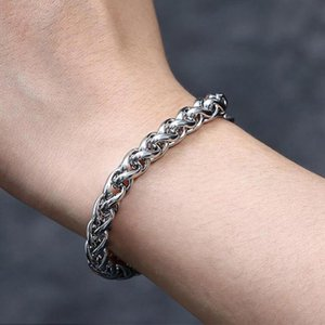 20cm Solid Stainless Steel Bracelets for Men and Women Metal Punk Casual Bracelet Unisex Curb Cuban Link Chain Bracelets