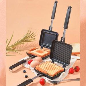 Pans 1PCS Sandwich Mold 35*15cm Pan Double Side Grill Fry Cookware Face Steak Pancake Outdoor Kitchen Supplies
