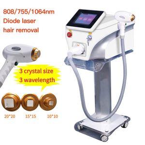 Melhor qualidade profissional 755 808nm 1064nm diodo máquina de laser permanente remoção de cabelo rejuvenescimento laser cabelo máquina de salão