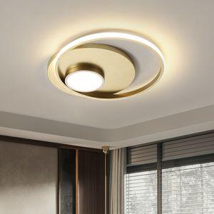 Moderno Lámpara de techo LED al cuarto balcón Cocina Creativa Negro Oro Moda Suspendida Lighting Chandelier 66nx