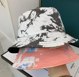 Laço de verão tingido de dois lados chapéus quatro época designer boné homens mulher praia balde chapéu cabido chapéus de beanie casquettes 5 cores