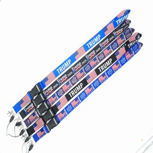 Trump Lanyard 2020 Election Flag of the United States Key Chains Badge Pendant Party Gift Moble Phone Lanyard