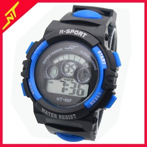 Student electronic men's boys' and girls' multifunctional colorful lamp night light waterproof net red watch