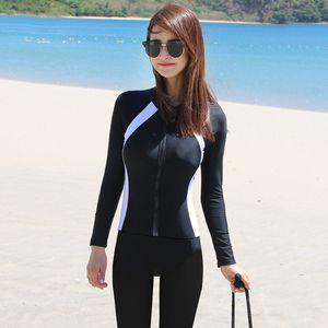 Pantalones de manga larga de la manga coreana de la nueva natación de los hombres Snorkeling Split Cremally Jellyfish Diving Femen Traje