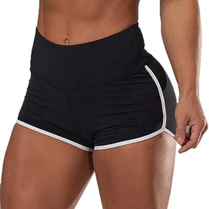 Sport Fitness Stretchy Shorts Gym Casual Side Stripes Sweatpants Fashion Slim High Waist Shorts For Women Drop Fast Shipping