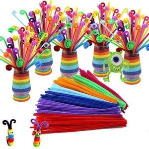 100 шт. / Лот Bendaroos Montessori Материалы Математика Chenille Stebs Sticks Puzzle Craft Детская труба очиститель Образовательная творческая игрушка