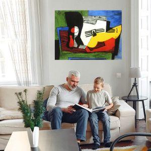 Pablo Picasso Натюрморт с гитарными украшениями дома ремесла / HD печати живопись маслом на холсте настенное искусство холст Фотографии 210222