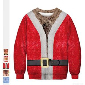Festive Women tree and Christmas men tshirt costume 3D digital printing womens designer t shirts loose Clothes Christmas costume t shirt