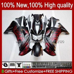 Bodys Kit for Kawasaki Ninja 650R ER6 F 650 R 6 F ER6F 06 07 08 29HC.0 650R-ER6F ER-6F ER 6F 2008 2008 2008 Full Fairings ماتي أسود أحمر