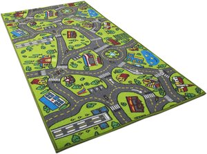 Children's play mats carpet city life, very suitable for playing with cars toys-Play, learn and 152x28cm