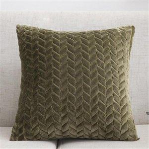 Wurfkissenbezüge texturiert Gestrickte Kurzwolle Samt Plüsch Kissenbezug Kissenbezüge für Sofa Couch Schlafzimmer EWF4982